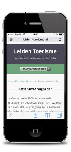 Leiden Toerisme op iPhone